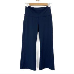 Lululemon Navy Blue Cropped Wide Leg Pants Size 8